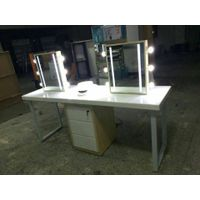 cosmetic experience table, makeup stand with mirror, cosmetic tester bar