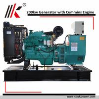 200kw ISO approved ATS diesel generator set with cummins engine