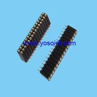 2.54mm machine pin female header H7.0 round pin straight solder thumbnail image