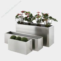 China supplier wholesale stainless steel rectangular planters