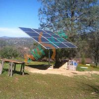 Solar pole mount