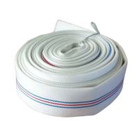 Double polyesters PVC fire resistant hose