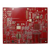 red solder mask double side pcb