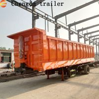 Chengda Brand Fuwa 3 Axle Tipping Trailer Tractor Tipping Trailer