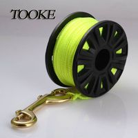TOKEE Scuba Diving 23m 30m Plastic Spool Reel with Nylon Color Line Brass Snap Bolt