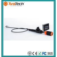 Portable 2-way articulating video borescope camera with flexible stainless tube thumbnail image