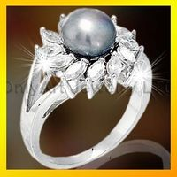 pretty sterling silver 925 pearl ring for women
