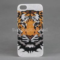 Various patterns Full bling crystal diamond Plastic case for iphone 5