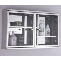 The Most Popular stainless steel bathroom glass cabinet