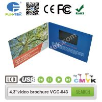 A5 Landscape 4.3 inch Video Brochure LCD in Print Advertising Player Mailer VGC-043 thumbnail image