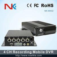 4 channel H.264 mobile DVR car black box