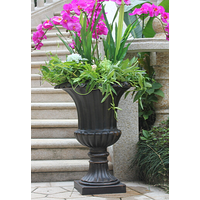 outdoors garden patio flowerpot stand aluminum flower pot metal flowerpot