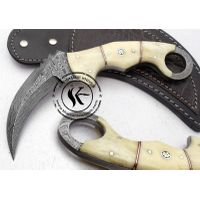 Custom Made Damascus Steel Full Tang Hunting Knife