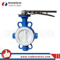 Full PTFE lined wafer butterfly valve thumbnail image