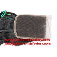 Brazilian Water Wave Closure 3 Way Part Top Human Hair Closure Brazilian Lace Closure Bleached Knots