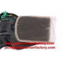 Brazilian Water Wave Closure 3 Way Part Top Human Hair Closure Brazilian Lace Closure Bleached Knots