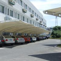 Latest technology PVC car parking shade