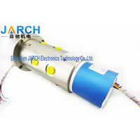 4 Passages Electrical slip ring oil fluid rotary union rf rotary joint combination assemblies