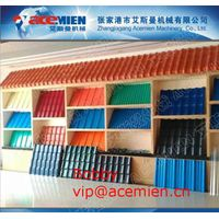 waterproof,fire proof,anti-corrosion,flame retardant pvc glazed roof tile machine