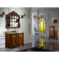 European Style Antique Solid Wood Bathroom Cabinets