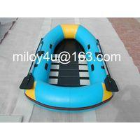 Inflatable fishing skiff boat