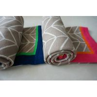 new super soft two sides knitted solid blanket