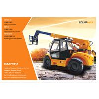 4 ton diesel powered telehandler all terrain forklift with 360 degree rotate chassis