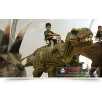 children entertainment equipment riding dinosaur