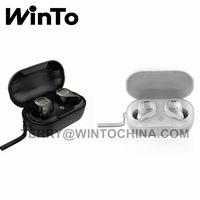 Fashion TWS Wireless Earphones BT 5.0 Bluetooth Headphone Business Style Earbuds Clear Phone Talk
