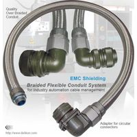 EMc shield and antistatic SS OVER braided flexible metal conduit thumbnail image