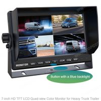 7Inch LCD Quad-view Monitor for AHD Cameras by Heavy Truck Trailer (TOP-AHD7004Q) thumbnail image