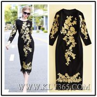 European Dress Design Women Fashion Embroidery Prom Evening Dress China Wholesale