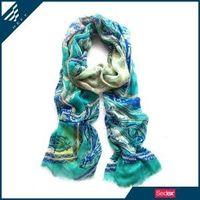 HEFT Fashion green paisley print scarf