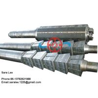 Rolling mill metal coiler drum shaft