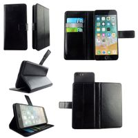 Universal plain color leather mobile phone case with card slots and cash pocket for many brands thumbnail image