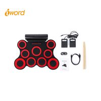 iword G3009L 9 Pads Rechageable Battery Portable Electronic Drum Set