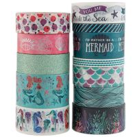 Precious Metals Washi Tape Sticker Stationery Scrapbooking Decorative Tapes Flower Wrapping Paper thumbnail image