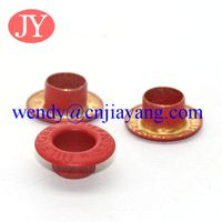 jiayang painting color metal flat eyelet for shoes