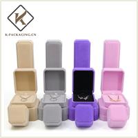 Octagonal Velvet jewellery box