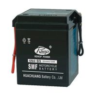 SMF Motorcycle battery, 6N4-BS, maintance free, rechargeable, storage, starting, factory activated,