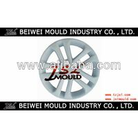 Plastic car wheel cover injection moulding