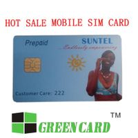 Green card mobile phone cards plastic pvc sim cards