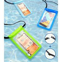 IPx8 Waterproof Smart Phone Pouch TPE( Snap Button + Zip-lock)