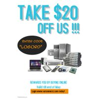 Be Rewarded with $20 Off Your Online Purchase