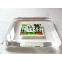 Crystal acrylic paper weight  stamp paper weight