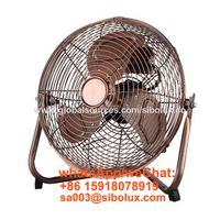 12 inch metal high velocity floor fan with 3 speeds oscillating for office and home appliances thumbnail image