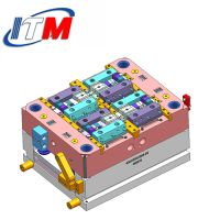 Precision Plastic Injection Mold Tooling , DFM Full 3D Injection Molding ODM / OEM Hardened long mo