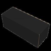 Custom printing black matt laminated rollover lid paper box for clothing thumbnail image