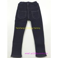 children denim cotton leggings fur lined thick winter pants with pockets