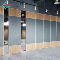 Movable Folding Soundproof Acoustic Modular Wall Partition With Door